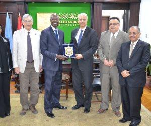 جامعة الاسكندرية تستقبل سفير كينيا لتوطيد أواصر التعاون بين البلدين (صور)