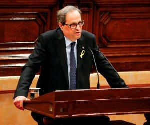 رئيس كتالونيا الجديد يصل مقر سجن السياسيين الانفصاليين في مدريد
