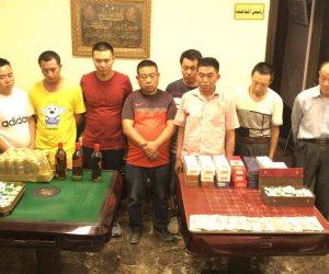 ضبط 9 صينينين في المعادي بسبب «كوتشينة»