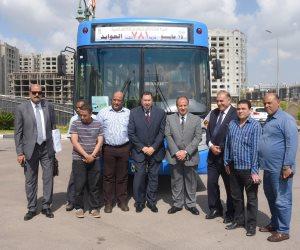 محافظ الإسكندرية يتفقد أتوبيسات النقل العام بعد رفع كفاءة 80% منها (صور)