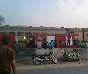 السيطرة على حريق بإحدى عربات القطار القادم من المنصورة للزقازيق