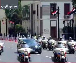 الرئيس السيسي يصل مجلس النواب لأداء اليمين الدستورية لولاية رئاسية ثانية
