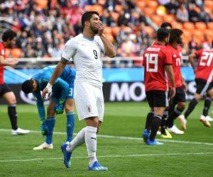 أداء بطولي للفراعنة في أولى مباريات كأس العالم.. واروجواى تسرق المباراة بهدف مباغت (صور)