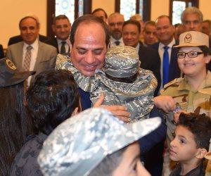 العيد فرحة.. السيسي لأبناء مصابي وأسر الشهداء: «أخبروا آباءكم أني أحبكم» (صور)