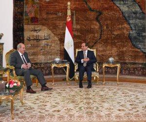 الرئيس السيسي يستقبل إياد علاوي ويؤكد وقوف مصر بجانب الدولة العراقية
