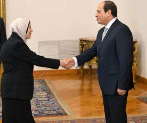 أحدثهن المستشارة أماني الرافعي.. 3 سيدات حلفن أمام الرئيس لرئاسة النيابة الإدارية ( صور )