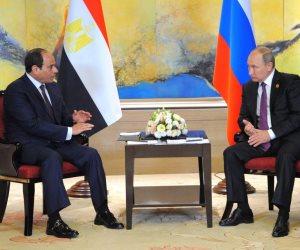 بوتين يوجه بتوقيع اتفاق الشراكة والتعاون الاستراتيجي مع مصر