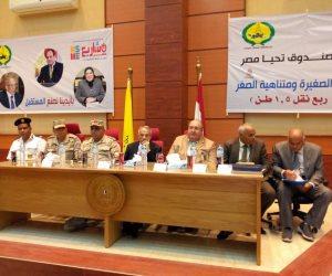 تنفيذا لتوجيهات الرئيس.. حرحور يسلم 23 سيارة ربع نقل لشباب شمال سيناء (صور)