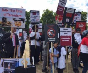 الاعتداء على وقفة احتجاجية ضد تميم كشف المستور: قصة حقوقي تحول إلى مرتزق