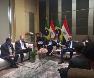 شريف اسماعيل يلتقي وزير خارجية «البرازيل» على هامش قمة «بريكس» (صور)