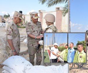 وزير الدفاع يتفقد عناصر القوات المسلحة والشرطة في سيناء (صور)