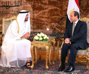 السيسى وابن زايد يؤكدان رفضهما التدخل في الشئون الداخلية للدول العربية