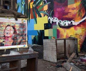 اديها جرافيتي تديك طراوة.. جدارية بالجيزة تخفف من ارتفاع درجة الحرارة