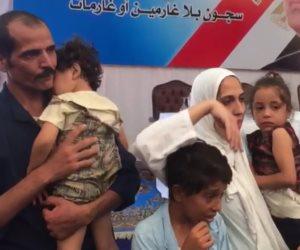 مبادرة الرئيس للإفراج عن الغارمين تعيد الإبتسامة لأب وأم لأربعة أبناء (فيديو)
