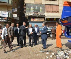 في أول أيام عيد الأضحى.. محافظ الجيزة يتفقد أعمال النظافة (صور)