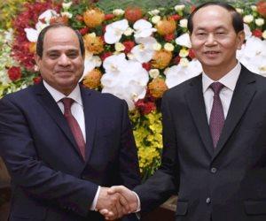 رئاسة الجمهورية تكشف تفاصيل زيارة رئيس فيتنام مصر