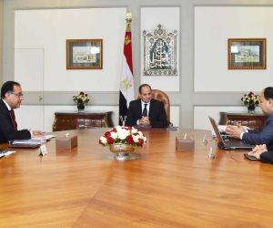 السيسي يجتمع برئيس الوزراء ووزير المالية.. وماذا قال الرئيس عن المنازعات الضريبية؟