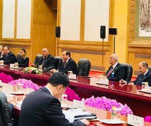 حصيلة زيارة السيسي في الصين.. القطار الكهربائي ومشروعات قناة السويس
