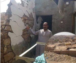 نحذر من دويقة جديدة في أسوان.. الصخور تهدد منازل قرى أبوالريش (صور)