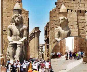 رغم ارتفاع درحات الحرارة.. أثار الفراعنة تنعش السياحية الثقافية في الأقصر