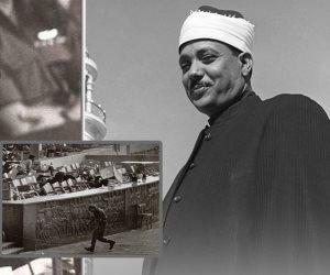 شاهد على اغتيال السادات.. إصابة الشيخ عبدالباسط عبدالصمد بالسكر بسبب حادث المنصة