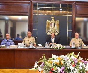 الرئيس السيسى يترأس اجتماع المجلس الأعلى للقوات المسلحة (صور)