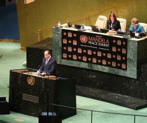 """رسائل الرئيس لمواجهة التطرف.. السيسي يكشف """"داعمي الإرهابي"""" تحت قبة الأمم المتحدة"""