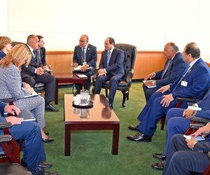 السيسى يبحث مع رئيس وزراء بلغاريا التعاون الأمنى والاقتصادى  وتبادل المعلومات