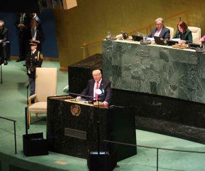 تحالف جديد بالمنطقة ومواجهة الخطر الإيراني.. أبرز محاور خطاب ترامب في الأمم المتحدة