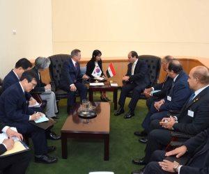 لقاء على هامش الجمعية العامة للأمم المتحدة.. ماذا قال رئيس كوريا الجنوبية للسيسي؟