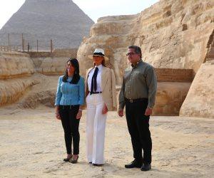 «عاملة شغل».. تعرف على أبرز نتائج زيارة ميلانيا ترامب للأهرامات
