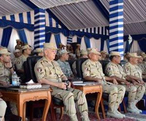 """الفريق محمد فريد يشهد إحدى المراحل الرئيسية للمشروع التكتيكى بجنود """" نصر - 14"""""""