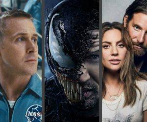 إيرادات السينما العالمية اليوم.. First Man يدخل صراع الصدارة مع Venom و A Star Is Born
