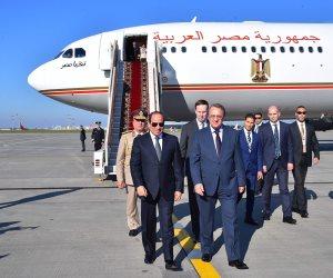 """للقاء بوتين وكبار المسئولين الروس.. السيسى يصل موسكو في زيارة رسمية """"صور """""""