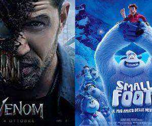 إيرادات السينما العالمية اليوم.. توم هاردى يواصل الابتعاد بالصدارة وتراجع أنيميشن Smallfoot