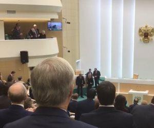 شاهد رد فعل أعضاء المجلس الفيدرالي الروسي على كلمة السيسي