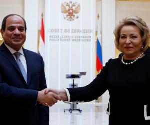 """رئيسة المجلس الفيدرالي الروسي: نرحب بزيارة الرئيس السيسي لروسيا """"صور"""""""