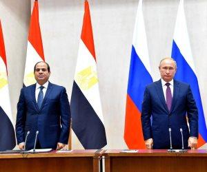 نص كلمة الرئيس السيسي في المؤتمر الصحفي المشترك مع بوتين