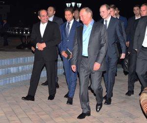 """بوتين لـ""""الروس"""": السيسي صديقنا.. وقمة بين الرئيسين في سوتشي"""