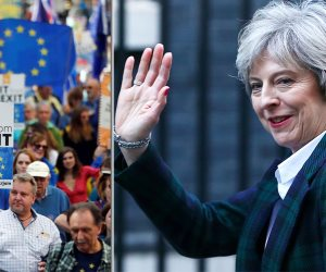 """رئيسة وزراء بريطانيا تقف على عتبة """"10 دواننج ستريت"""" انتظاراً لنتيجة تصويت سحب الثقة"""