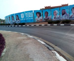 """""""صوت الأمة"""" في تجهيزات منتدى شباب العالم بشرم الشيخ.. هكذا تزينت مدينة السلام (صور)"""