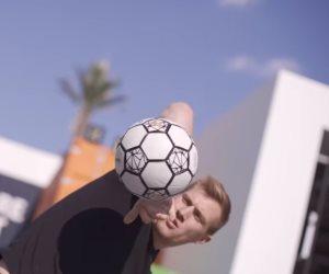 بطل العالم فى الاستعراض بكرة القدم لشباب منتدى 2018: ثقوا في أنفسكم (صور)