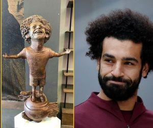 لكنكم تحبون الأجانب.. تمثال محمد صلاح في منتدى شباب العالم ليس الأول (صور)