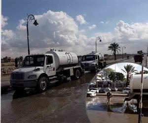 إنهاء سحب مياه الأمطار.. هكذا عادت الحياة لطبيعتها بشوارع وأسواق شمال سيناء (صور وفيديو)