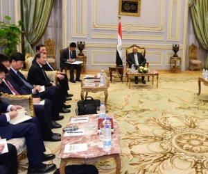 الاستثمارات نقطة محورية.. ماذا قال رئيس «نواب الصين» لـ على عبد العال؟ (صور)