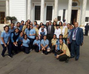 الزيارة بدأت بتفقد متحف البرلمان.. «تلاميذ» مصر في ضيافة مجلس النواب