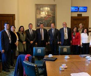 رغم اعتداء الإخوان عليهم.. وفد برلمانى يلتقي قيادات حزب المحافظين ببريطانيا