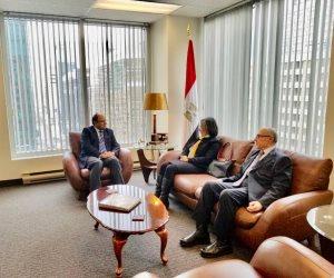 سفير مصر في كندا يلتقي أساتذة قسم الدراسات العربية بجامعة أوتاوا