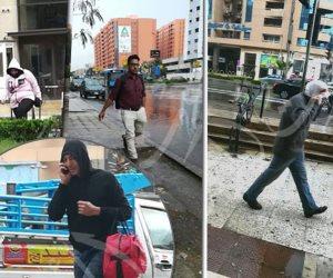 أبسطها يا باسط.. شعار عبد السلام النابلسي حال المواطنين تحت الأمطار (صور)