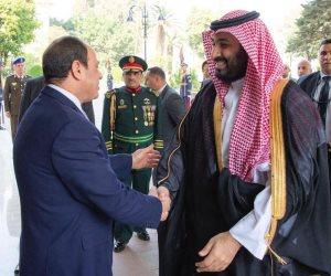 الرئيس السيسي يستقبل ولي العهد السعودي الأمير محمد بن سلمان في الاتحادية (صور)